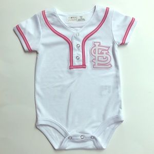 Other - St. Louis Cardinals Baseball Baby Girl Onsie
